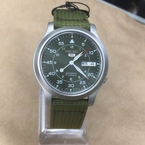 SNK805k2 Seiko Automatic Men Watch New Velcro band